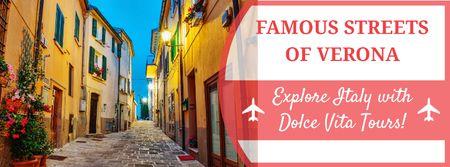 Traveling tour advertisement Facebook cover Modelo de Design