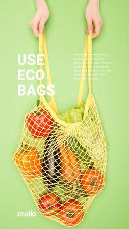 Modèle de visuel eco concept - Instagram Story