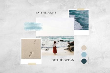 Template di design Calm walk by the Sea Mood Board