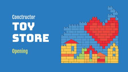Construction Toys Store Offer FB event cover Modelo de Design