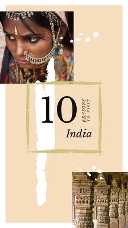 Modèle de visuel Indian girl in traditional costume - Instagram Story