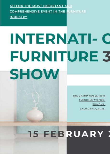 Furniture Show announcement Vase for home decor Invitation – шаблон для дизайна