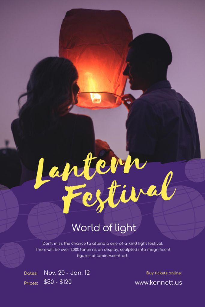 Szablon projektu Lantern Festival with Couple with Sky Lantern Tumblr