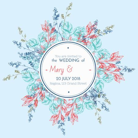Szablon projektu Wedding Invitation with Floral Frame Instagram AD