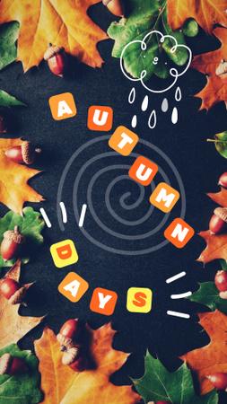 Modèle de visuel Autumn Inspiration with Golden Foliage - Instagram Story