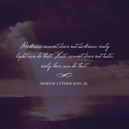 Designvorlage Martin Luther King day Greeting with Ocean Landscape für Instagram