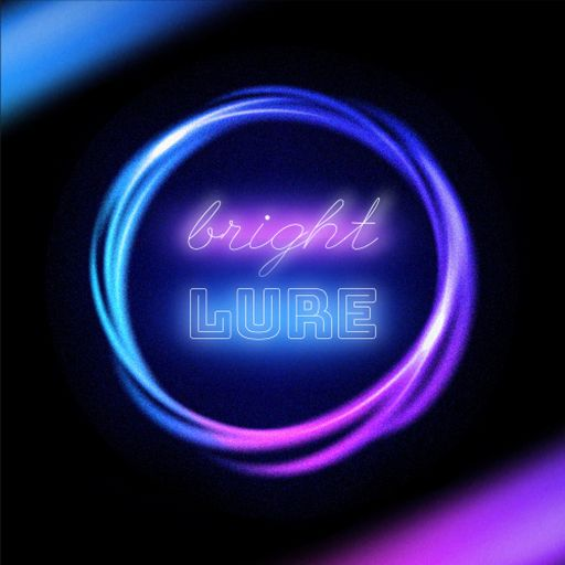 Bright Neon Round Emblem