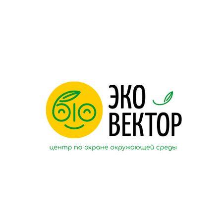 Environmental Organization with Smiling Face with Leaf Logo – шаблон для дизайна