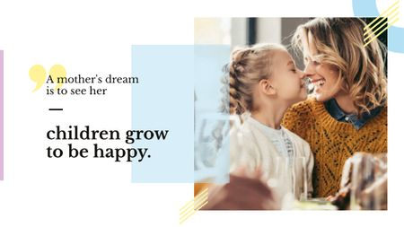 Plantilla de diseño de Happy mother with daughter Title