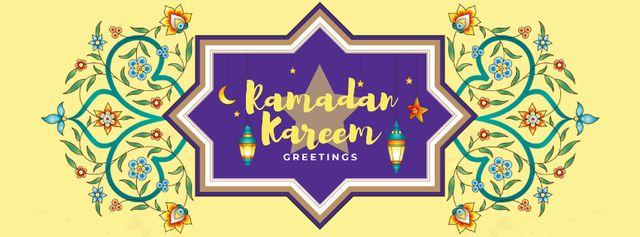 Ramadan kareem greeting Facebook cover Modelo de Design