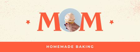 Template di design Homemade Baking Offer on Mother's Day Facebook cover