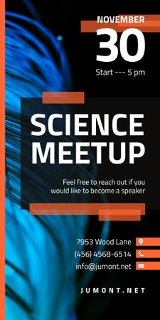 Science Meetup Electronic Wires in Blue Graphic – шаблон для дизайна