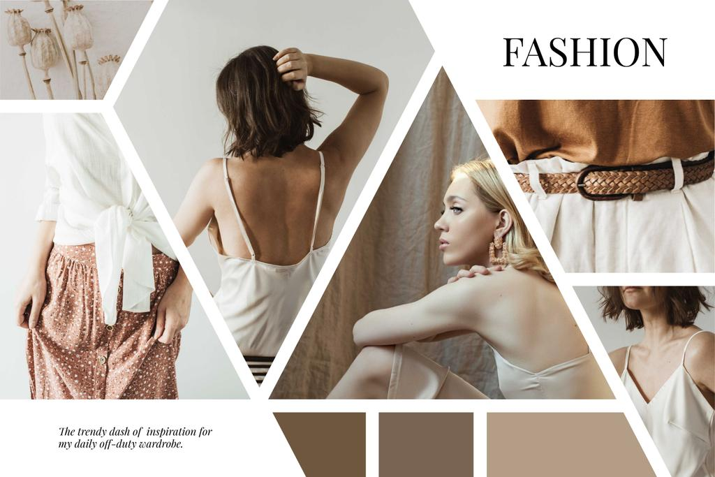 Stylish Girl in light clothes – Stwórz projekt