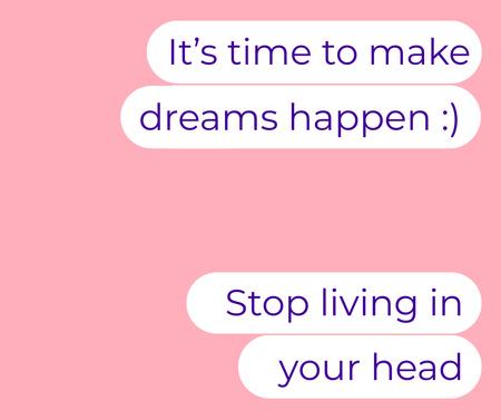 Cute Inspirational Messages on Phone Screen Facebook – шаблон для дизайна
