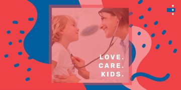 Pediatrician examining child