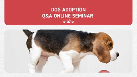 Puppy socialization class with Dog FB event cover – шаблон для дизайну