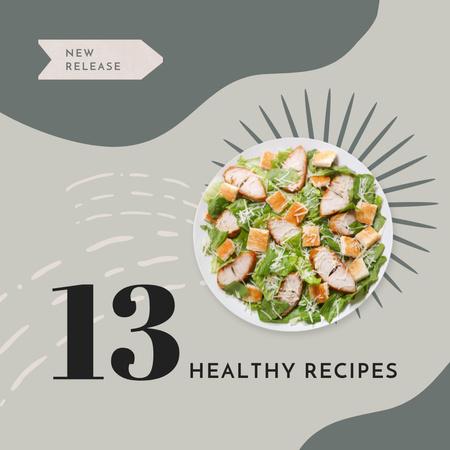 Healthy Recipes Ad with Tasty Dish on Plate Instagram – шаблон для дизайна