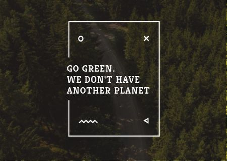 Modèle de visuel Citation about green planet - Card