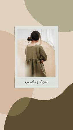 Woman wearing casual Dress Instagram Story Design Template