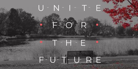 Ontwerpsjabloon van Twitter van Concept of Unite for the future