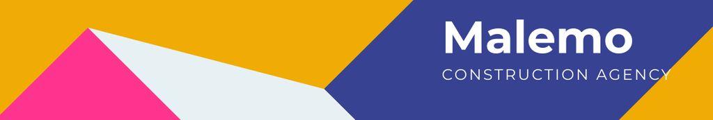 Construction Company profile on geometric pattern — Modelo de projeto