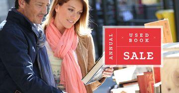 Couple buying books