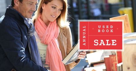 Couple buying books Facebook AD Modelo de Design
