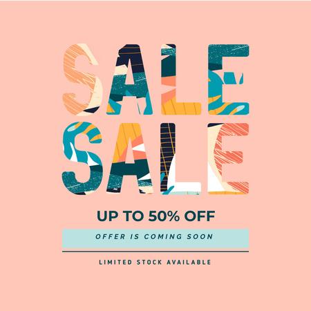 Sale announcement in Bright colors Instagram – шаблон для дизайну