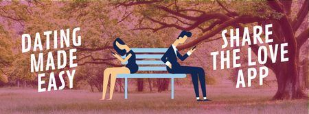 Plantilla de diseño de Young Couple using dating app Facebook Video cover