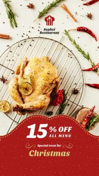 Christmas Dinner Invitation Whole Roasted Turkey