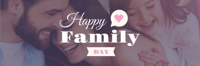 Template di design Happy Family day Greeting Email header