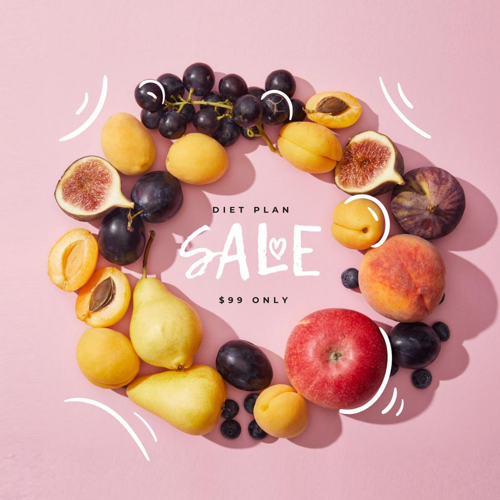 Healthy Diet plan offer Instagramデザインテンプレート
