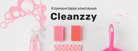 Cleaning Company promotion Facebook cover – шаблон для дизайна