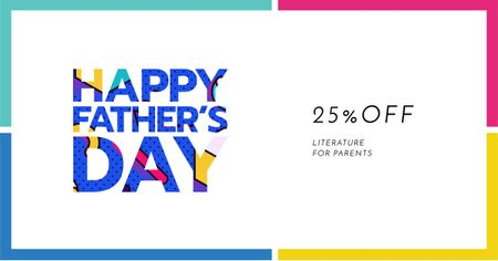 Plantilla de diseño de Father's Day Discount Offer Facebook AD