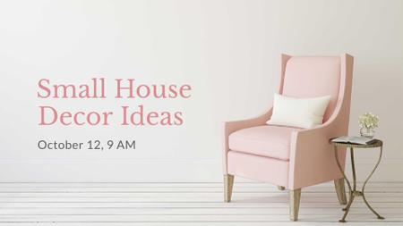 Plantilla de diseño de Furniture Store ad with Armchair in pink FB event cover