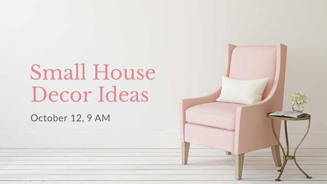 Furniture Store ad with Armchair in pink FB event cover Tasarım Şablonu