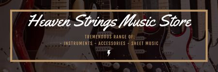 Heaven Strings Music Store Twitter Modelo de Design