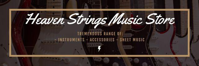 Modèle de visuel Heaven Strings Music Store - Twitter
