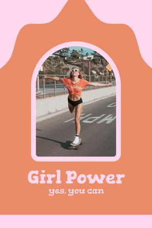 girl power Pinterest – шаблон для дизайна