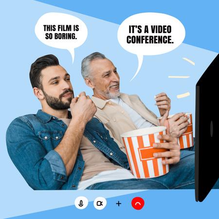 Funny Joke about Video Conference Instagram – шаблон для дизайну