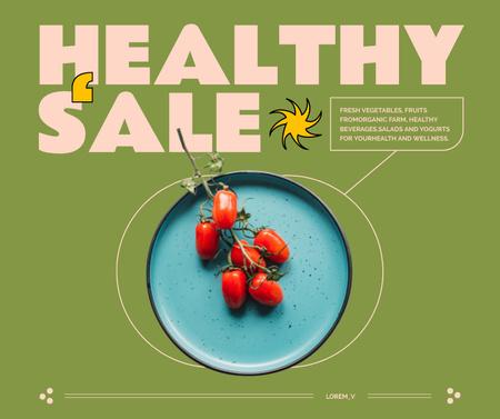 Modèle de visuel Healthy Food Sale with Tomatoes on Plate - Facebook