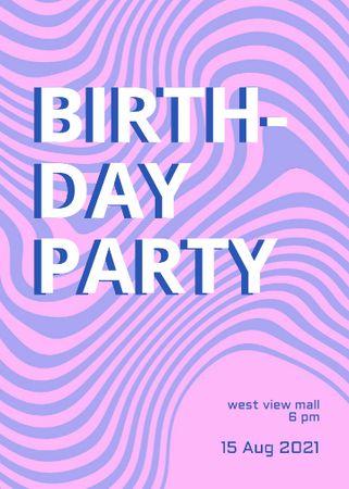 Birthday Party Announcement with Dizzy Pattern Invitation – шаблон для дизайна