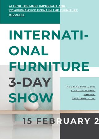 Furniture Show announcement Vase for home decor Flayer Tasarım Şablonu