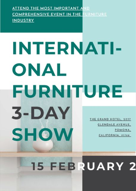 Designvorlage Furniture Show announcement Vase for home decor für Flayer