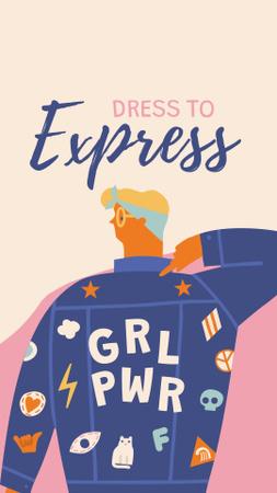 Girl Power bright Inspiration Instagram Story – шаблон для дизайна
