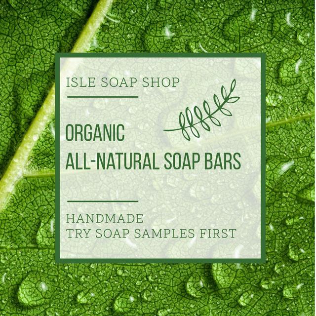 Organic Soap Bars Advertisement Instagram Design Template