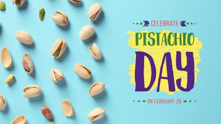Pistachio nuts day celebration FB event cover – шаблон для дизайна