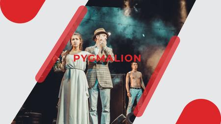 Theater Invitation with Actors in Pygmalion Performance Youtube Modelo de Design