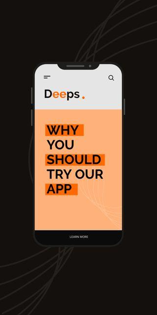 Modèle de visuel New App Announcement with Phone Screen - Graphic