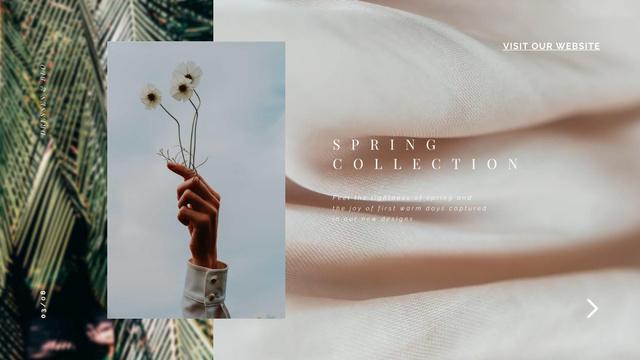 Ontwerpsjabloon van Full HD video van Fashion Collection Silk Texture in Pink